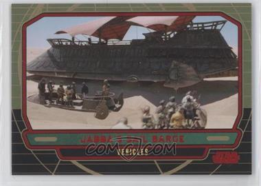 2012 Topps Star Wars Galactic Files Red #286 - Jabba's Sail Barge /35