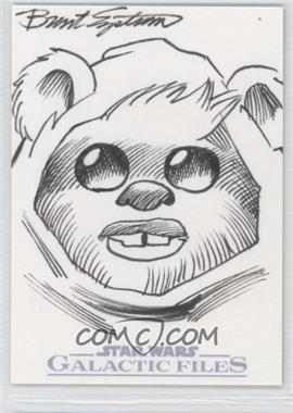 2012 Topps Star Wars Galactic Files Sketch #BEEW - Brent Engstrom (Ewok) /1