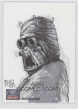 2012 Topps Star Wars Galaxy Series 7 Sketch Cards #N/A - Tusken Raider /1