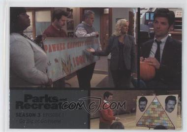 2013 Press Pass Parks and Recreation Seasons 1-4 - [Base] - Foil #31 - Season 3, Episode 1 - Go Big or Go Home