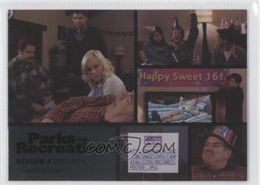 2013 Press Pass Parks and Recreation Seasons 1-4 - [Base] - Foil #62 - Season 4, Episode 16 - Sweet Sixteen