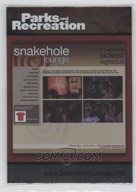 2013 Press Pass Parks and Recreation Seasons 1-4 - [Base] - Foil #81 - Snakehole Lounge