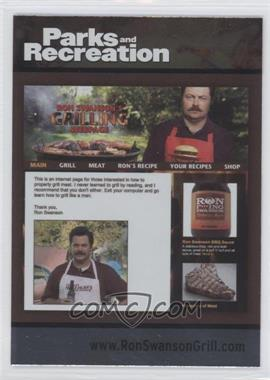 2013 Press Pass Parks and Recreation Seasons 1-4 - [Base] - Foil #87 - Ron Swanson Grill
