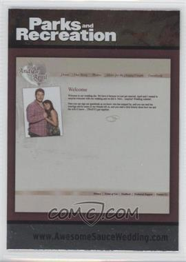 2013 Press Pass Parks and Recreation Seasons 1-4 - [Base] - Foil #90 - Andy & April Wedding Invite