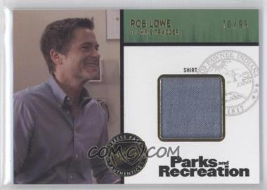 2013 Press Pass Parks and Recreation Seasons 1-4 - Relics - Gold #R2-RL - Rob Lowe as Chris Traeger /99