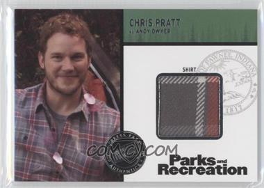 2013 Press Pass Parks and Recreation Seasons 1-4 - Relics #R-CP - Chris Pratt as Andy Dwyer