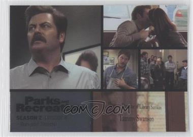 2013 Press Pass Parks and Recreation Seasons 1-4 Foil #14 - Season 2, Episode 8 - Ron and Tammy