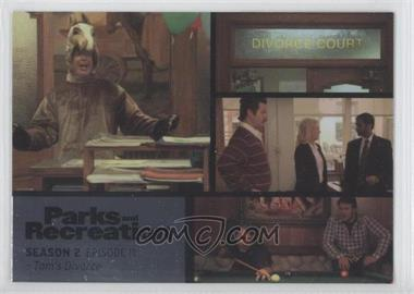 2013 Press Pass Parks and Recreation Seasons 1-4 Foil #17 - Season 2, Episode 11 - Tom's Divorce