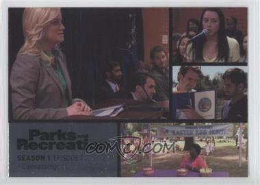 2013 Press Pass Parks and Recreation Seasons 1-4 Foil #2 - Season 1, Episode 2 - Canvassing