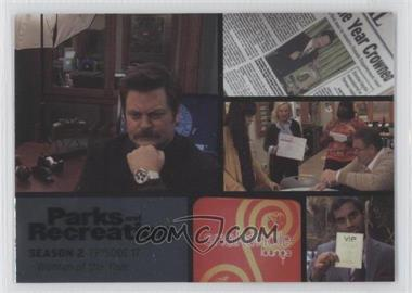 2013 Press Pass Parks and Recreation Seasons 1-4 Foil #23 - Season 2, Episode 17 - Woman of the Year