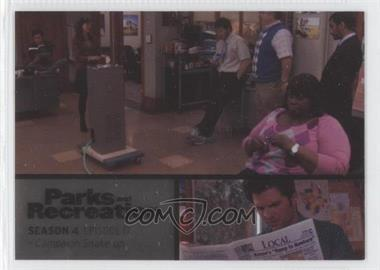 2013 Press Pass Parks and Recreation Seasons 1-4 Foil #63 - Season 4, Episode 17 - Campaign Shake-Up