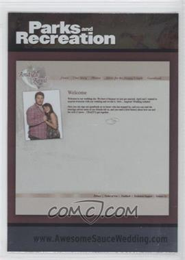 2013 Press Pass Parks and Recreation Seasons 1-4 Foil #90 - Andy & April Wedding Invite