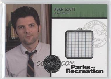 2013 Press Pass Parks and Recreation Seasons 1-4 Relics #R-AS - Adam Scott as Ben Wyatt