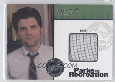 2013 Press Pass Parks and Recreation Seasons 1-4 Relics #R-AS - Adam Scott as Ben Wyatt