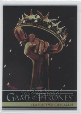 2013 Rittenhouse Game of Thrones Season 2 - [Base] - Foil #87 - Season Two Checklist