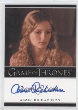 2013 Rittenhouse Game of Thrones Season 2 - Bordered Autographs #AIRI - Aimee Richardson as Myrcella Baratheon