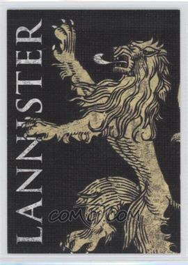 2013 Rittenhouse Game of Thrones Season 2 Family Sigil Map #H3 - Lannister