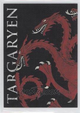 2013 Rittenhouse Game of Thrones Season 2 Family Sigil Map #H4 - Targaryen