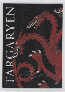 2013 Rittenhouse Game of Thrones Season 2 Family Sigil Map #H4 - Targaryen