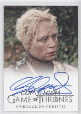 2013 Rittenhouse Game of Thrones Season 2 Full-Bleed Autographs #GWCH - Gwendoline Christie as Brienne of Tarth