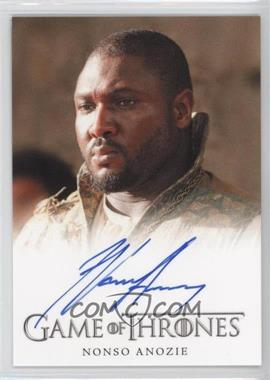 2013 Rittenhouse Game of Thrones Season 2 Full-Bleed Autographs #NOAN - Nonso Anozie as Xaro Xhoan Daxos