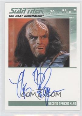 2013 Rittenhouse Star Trek The Next Generation: Heroes & Villains Autographs #BRTH - Brian Thompson, Second Officer Klag
