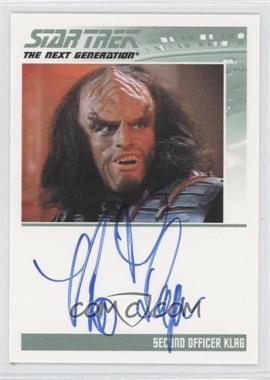 2013 Rittenhouse Star Trek The Next Generation: Heroes & Villains Autographs #BRTH - Brian Thompson, Second Officer Klag