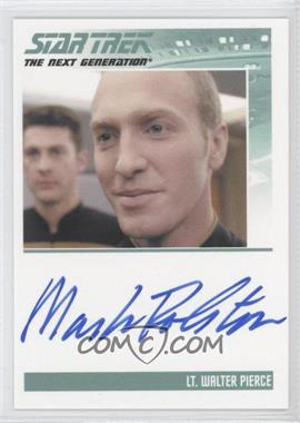 2013 Rittenhouse Star Trek The Next Generation: Heroes & Villains Autographs #MARO - Mark Rolston, Lt. Walter Pierce