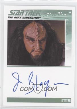 2013 Rittenhouse Star Trek The Next Generation: Heroes & Villains Autographs #NoN - James Sloyan, K'mtar