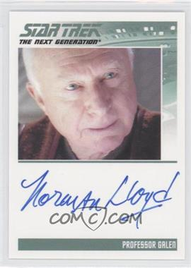 2013 Rittenhouse Star Trek The Next Generation: Heroes & Villains Autographs #NoN - Norman Lloyd, Professor Galen