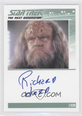 2013 Rittenhouse Star Trek The Next Generation: Heroes & Villains Autographs #NoN - Richard Herd, L'Kor