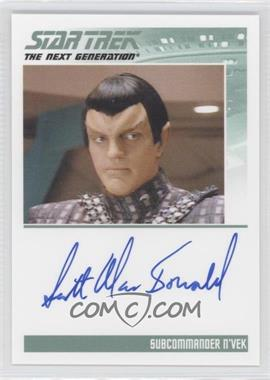 2013 Rittenhouse Star Trek The Next Generation: Heroes & Villains Autographs #NoN - Scott MacDonald, Subcommander N'Vek