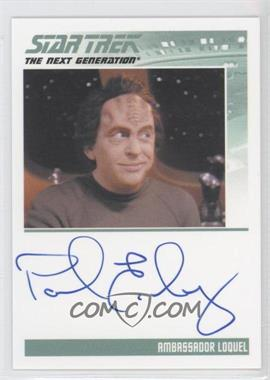 2013 Rittenhouse Star Trek The Next Generation: Heroes & Villains Autographs #PAEI - Paul Eiding, Ambassador Loquel