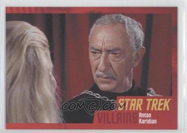 2013 Rittenhouse Star Trek The Original Series: Heroes & Villians - [Base] - Cardboard #27 - Anton Karidian