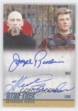 2013 Rittenhouse Star Trek The Original Series: Heroes & Villians - Dual Autographs #DA34 - Joseph Ruskin as Galt, Steve Sandor as Lars