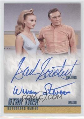2013 Rittenhouse Star Trek The Original Series: Heroes & Villians Dual Autographs #DA24 - Barbara Bouchet as Kelinda, Warren Stevens as Rojan