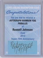 Russell Johnson [REDEMPTIONBeingRedeemed]