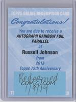 Russell Johnson /150 [REDEMPTION Being Redeemed]