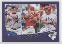2012 AL Batting Average Leaders (Miguel Cabrera, Mike Trout, Adrian Beltre)