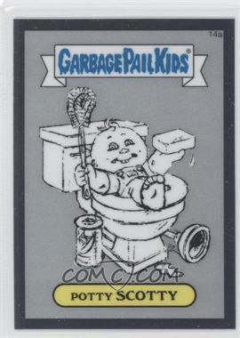 2013 Topps Garbage Pail Kids Chrome - Pencil Art Concept Sketches #14a - Potty Scotty
