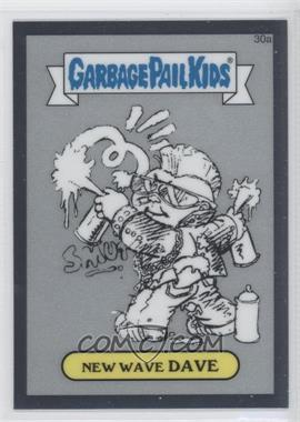 2013 Topps Garbage Pail Kids Chrome - Pencil Art Concept Sketches #30a - New Wave Dave