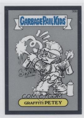 2013 Topps Garbage Pail Kids Chrome - Pencil Art Concept Sketches #30b - Graffiti Petey