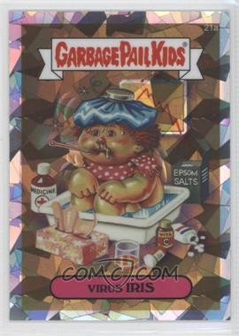 2013 Topps Garbage Pail Kids Chrome Atomic Refractor #21a - Virus Iris