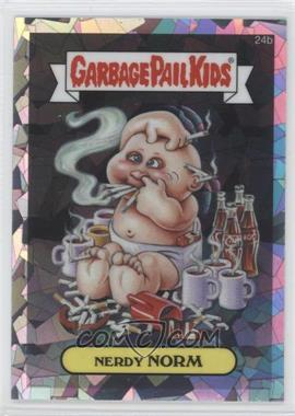 2013 Topps Garbage Pail Kids Chrome Atomic Refractor #24b - Nerdy Norm