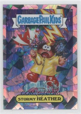2013 Topps Garbage Pail Kids Chrome Atomic Refractor #7a - Stormy Heather