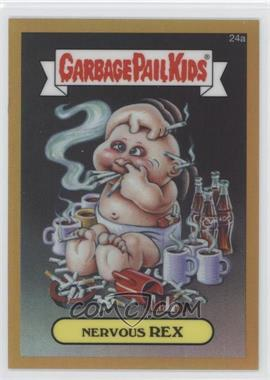 2013 Topps Garbage Pail Kids Chrome Gold Refractor #24a - Nervous Rex