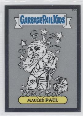 2013 Topps Garbage Pail Kids Chrome Pencil Art Concept Sketches #15b - Mauled Paul