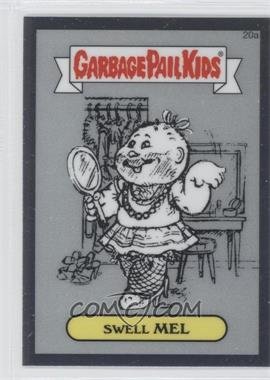 2013 Topps Garbage Pail Kids Chrome Pencil Art Concept Sketches #20a - Swell Mel