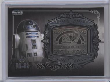 2013 Topps Star Wars Galactic Files Series 2 - Medallion Relics #MD-15 - R2-D2 (Sandcrawler)