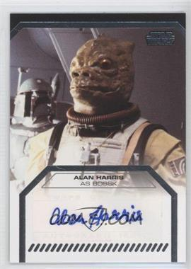 2013 Topps Star Wars Galactic Files Series 2 Autographs #N/A - Alan Harris as Bossk